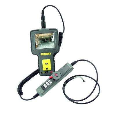 Video Inspection Camera with 3.5 in. LCD Display and Waterproof High-Performance Articulating Probe