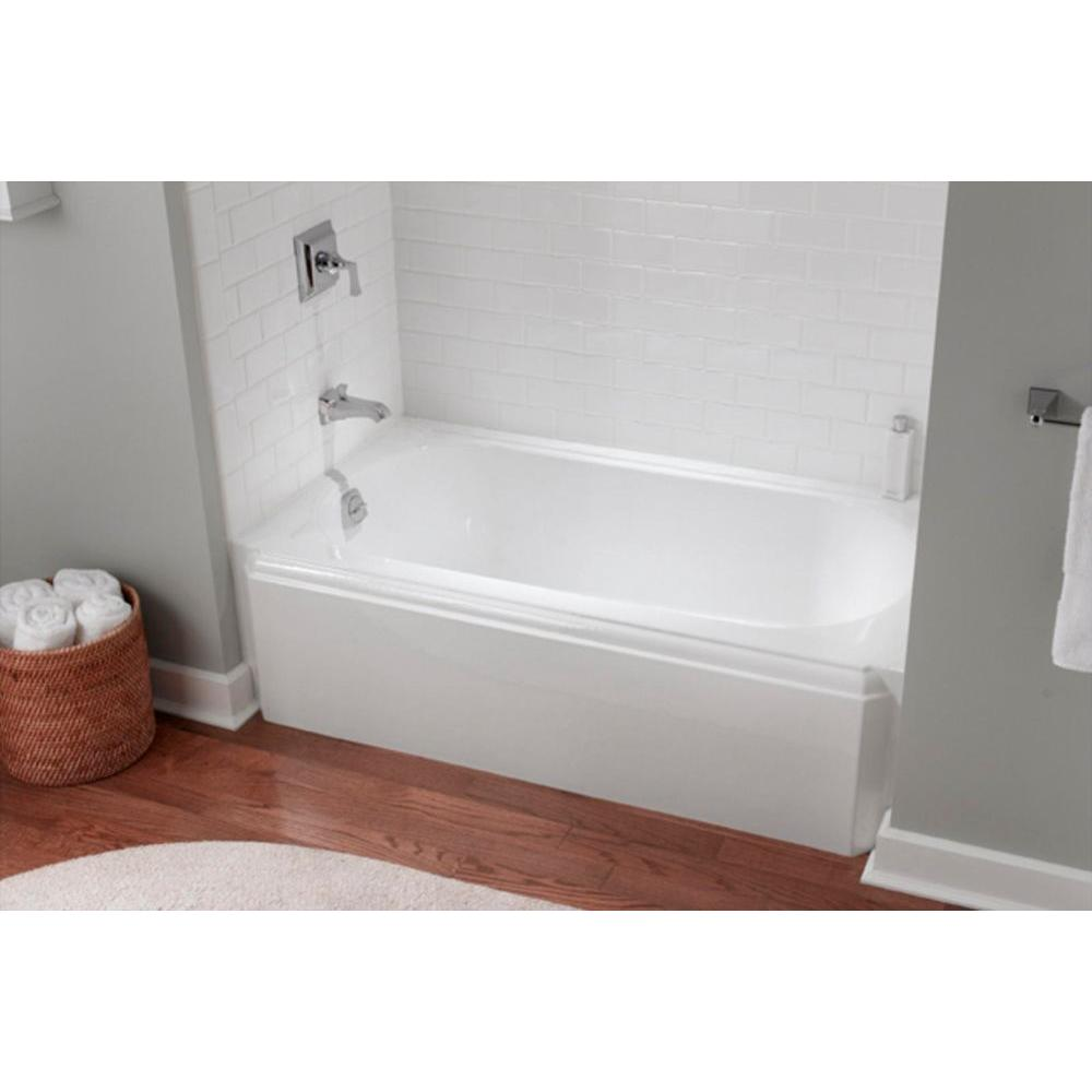 Kohler Memoirs 5 Ft Left Drain Rectangular Alcove Cast Iron Soaking Tub In White