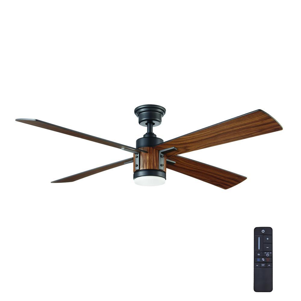 Home Decorators Collection Tybault 52 In Led Dc Motor Natural Iron Ceiling Fan