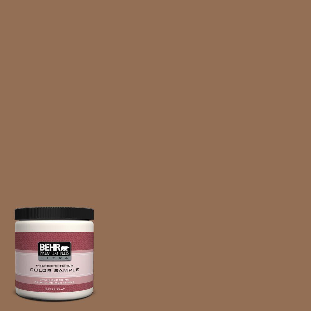 Behr Premium Plus Ultra 8 Oz Ul140 21 Toffee Bar Matte Interior