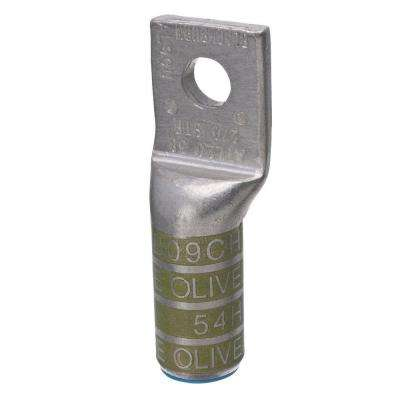 Color-Coded Aluminum 1-Hole Compression Wire Connector in Olive