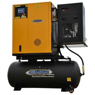 Premium Series 120 Gal. 10 HP 1-Phase Electric Variable Speed Rotary Screw Air Compressor with Refrigerated Dryer