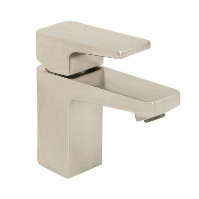 Kubos Single Hole Single-Handle Bathroom Faucet with Drain Assembly in Brushed Nickel