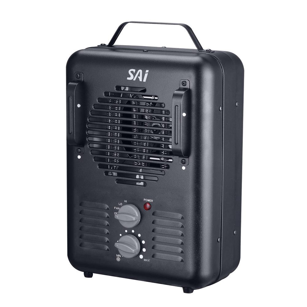 1500W PORTABLE ELECTRIC UTILITY HEATER Thermostat Home Fan ...