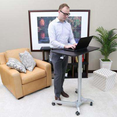 Airlift Espresso Sit-Stand Mobile Pneumatic Desk