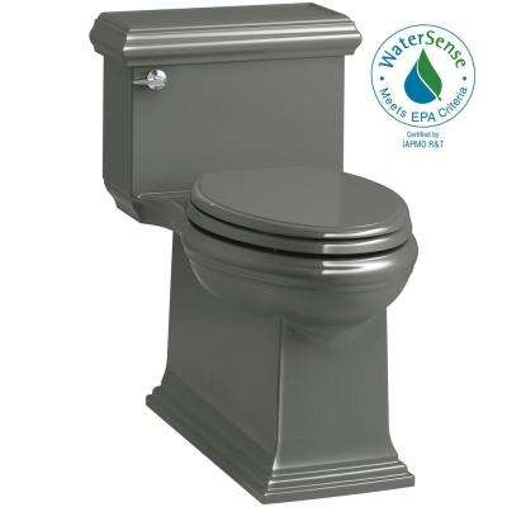 Memoirs Classic 1-Piece 1.28 GPF Single Flush Elongated Toilet in Thunder Grey