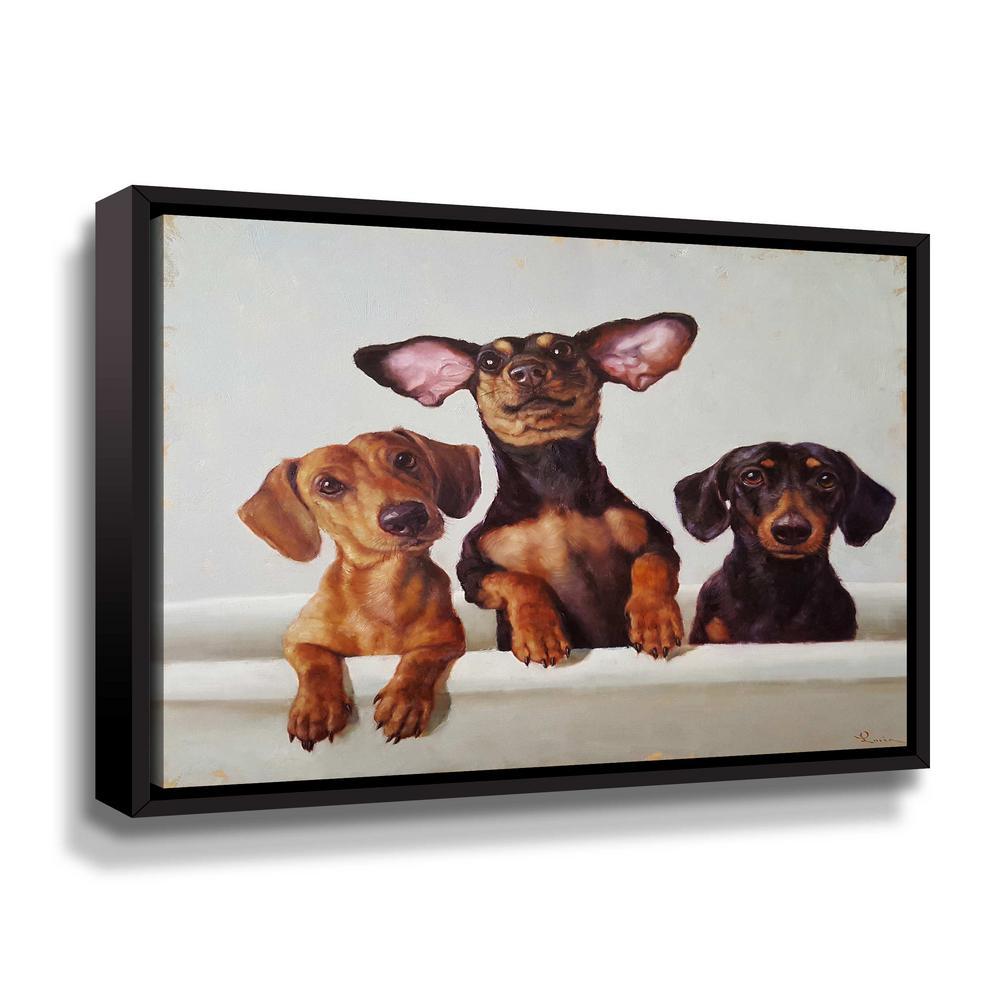 '3 Amigos' by  Lucia Heffernan Framed Canvas Wall Art