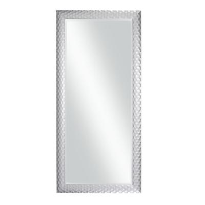0.75 in. H x 63.5 in. W Small Metallic Silver Composite Modern Mirror