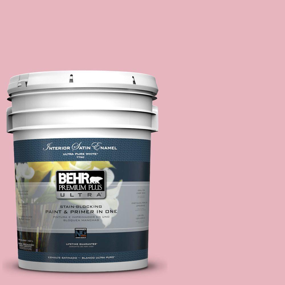 BEHR Premium Plus Ultra 5-gal. #110C-2 Colonial Rose Satin Enamel Interior Paint