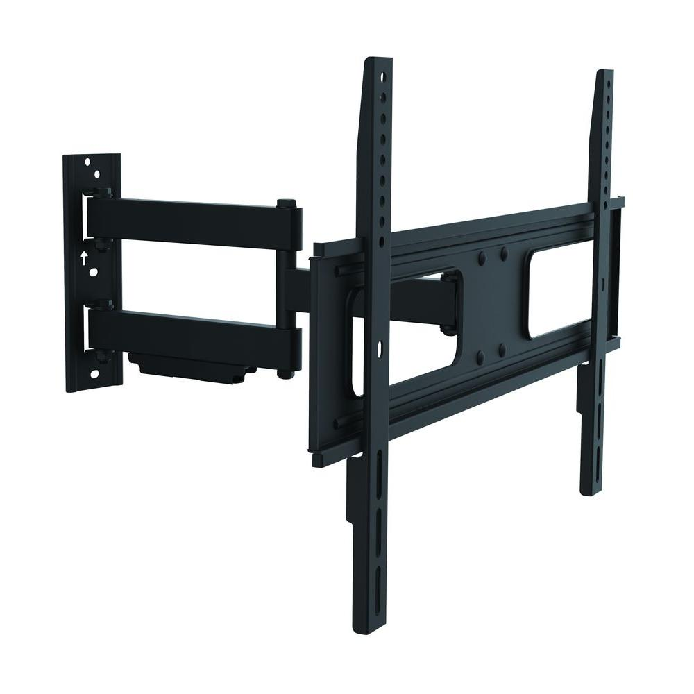 inland full motion dual arm tv wall mount for 37 in 70 in flat panel tv 39 s with 20 degree. Black Bedroom Furniture Sets. Home Design Ideas