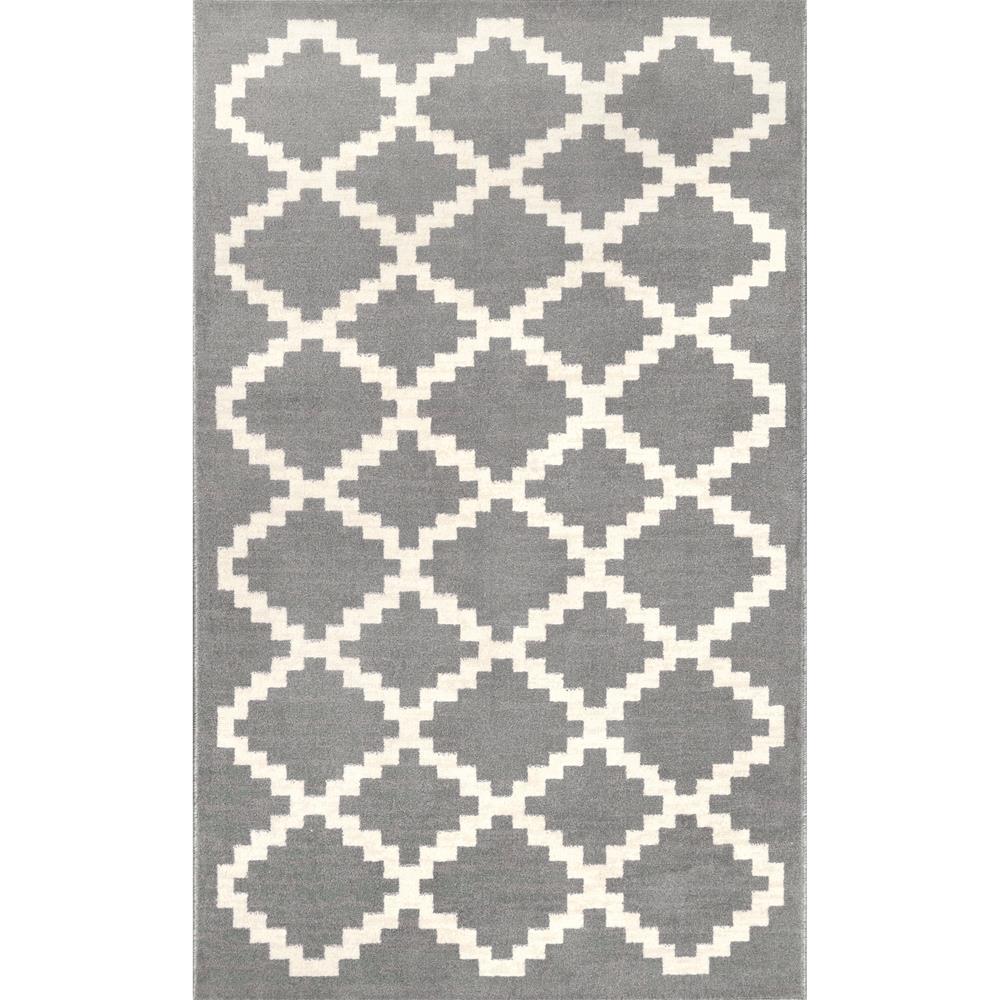 Nuloom Faustina Geometric Gray 8 X 10 Area Rug Owmn05c 8010 The