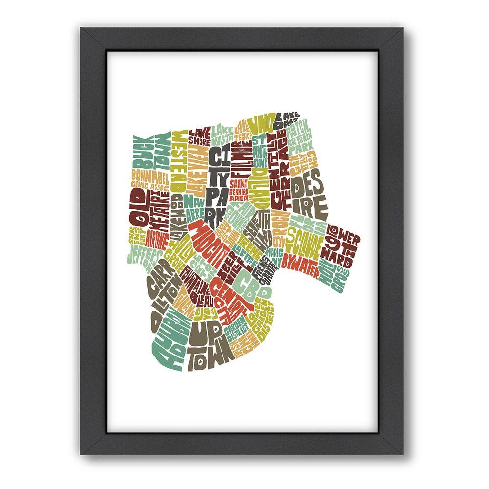 """Americanflat 27 in. x 21 in. """"New Orleans Color"""" by Joe Brewton Framed Wall Art"""