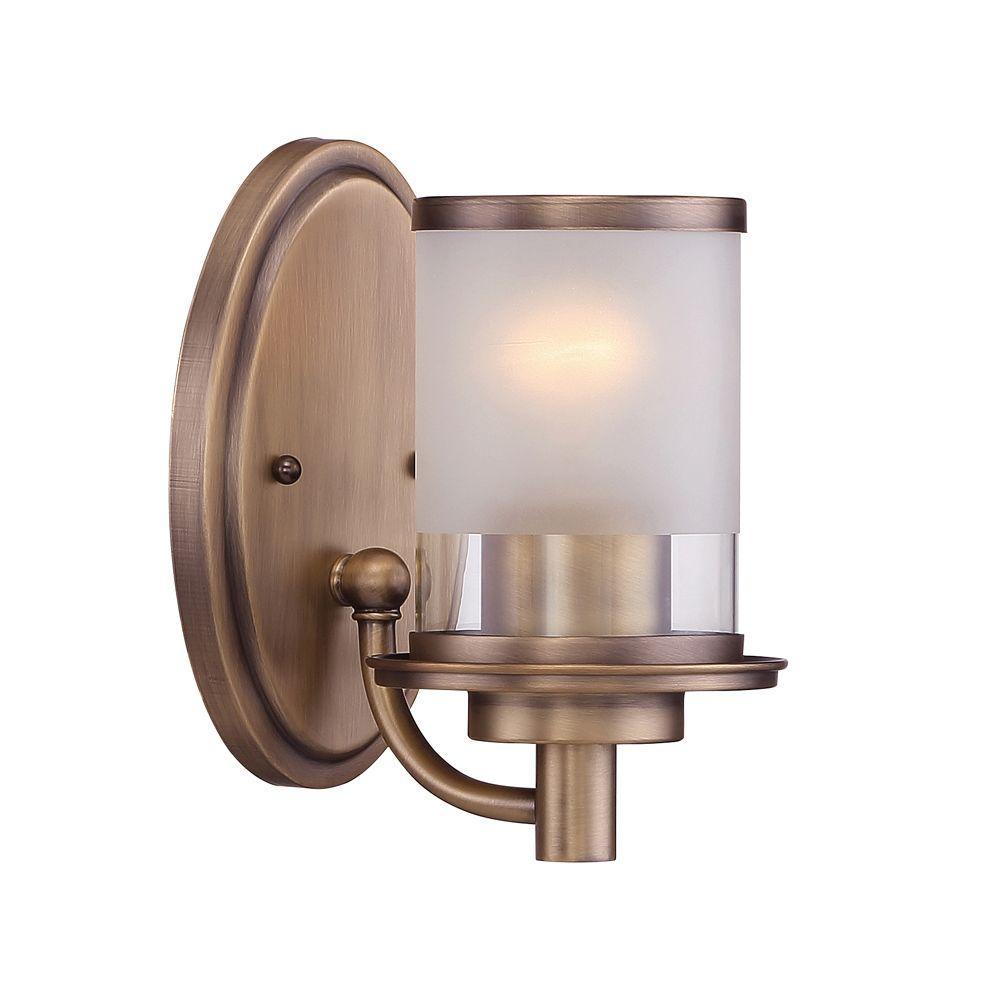 Essense 1-Light Old Satin Brass Interior Wall Sconce
