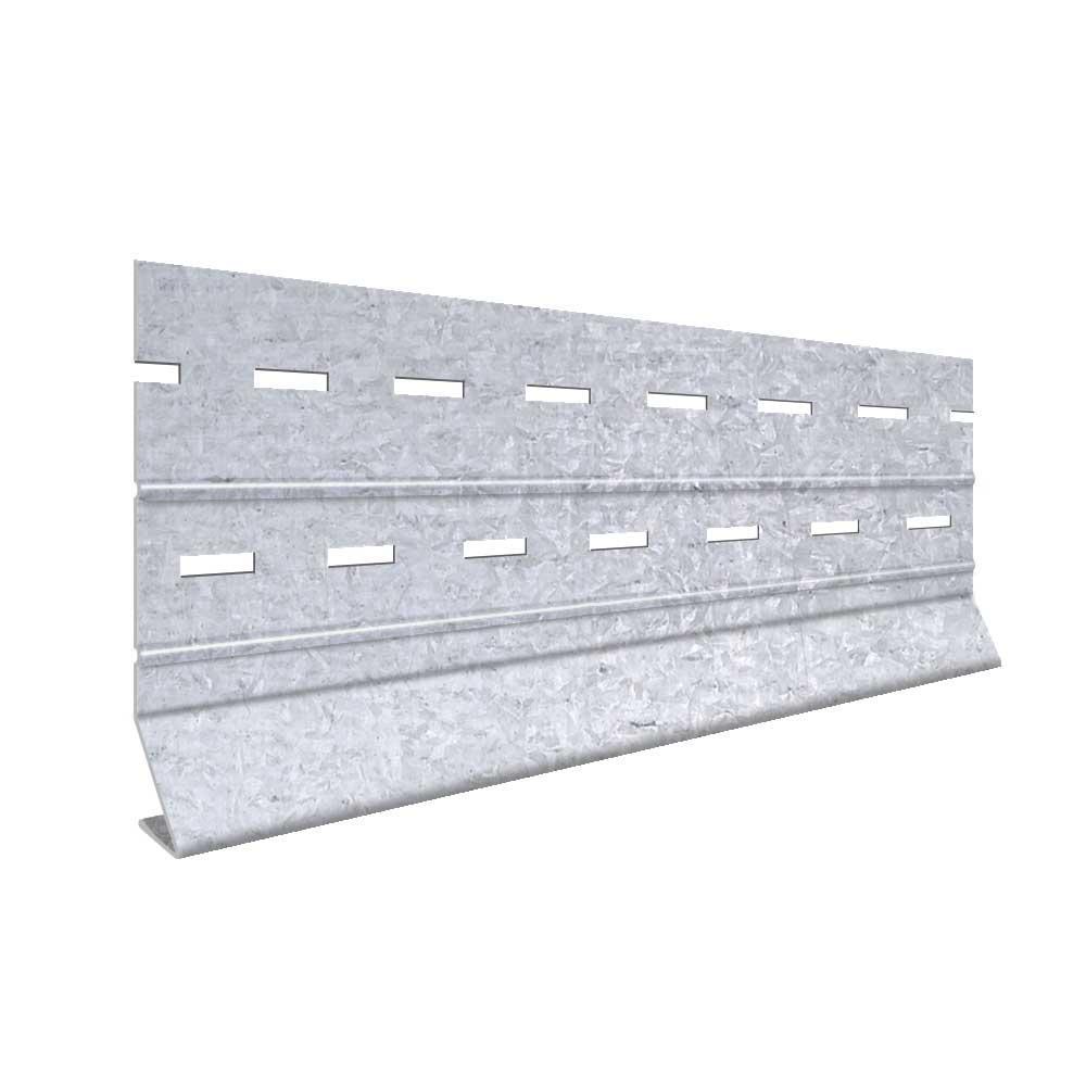 3-1/2 in  x 10 ft  Galvanized Steel Starter Strip