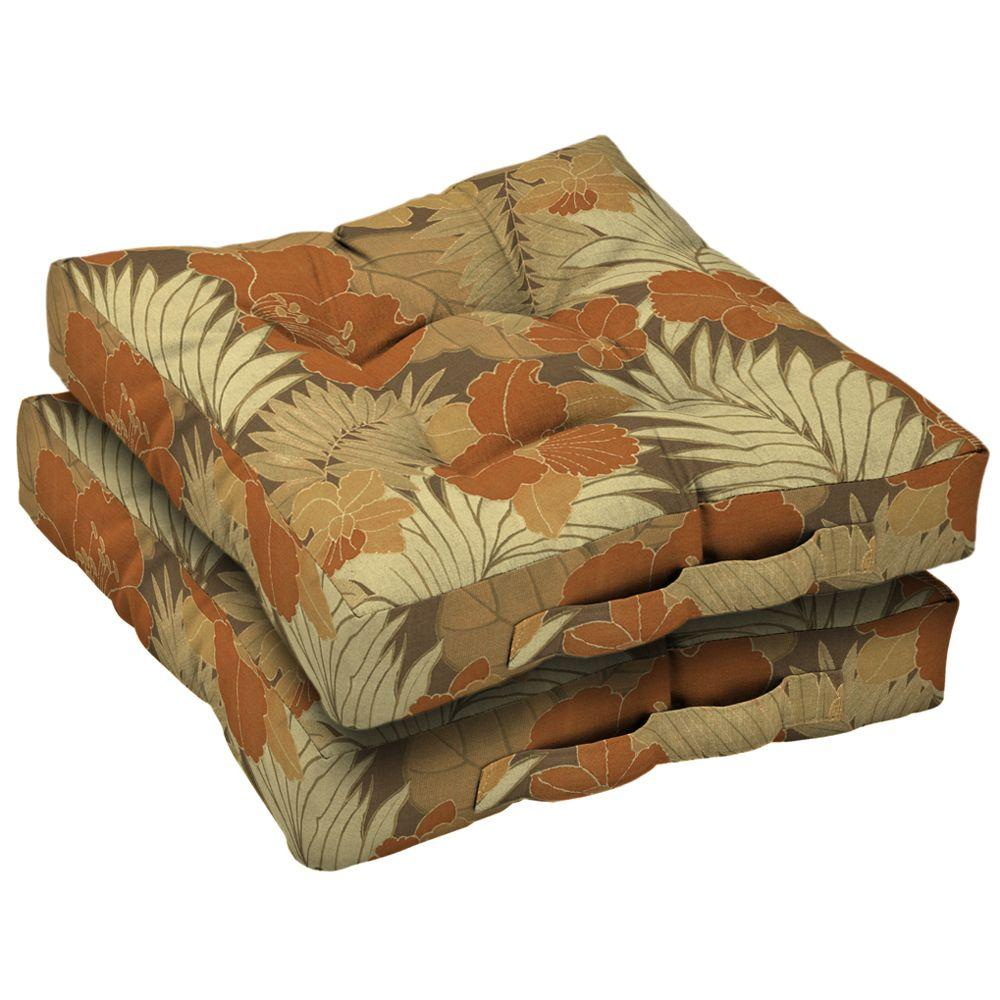 Arden St Barth Cocoa Deck Cushion (Set Of 2)-DISCONTINUED