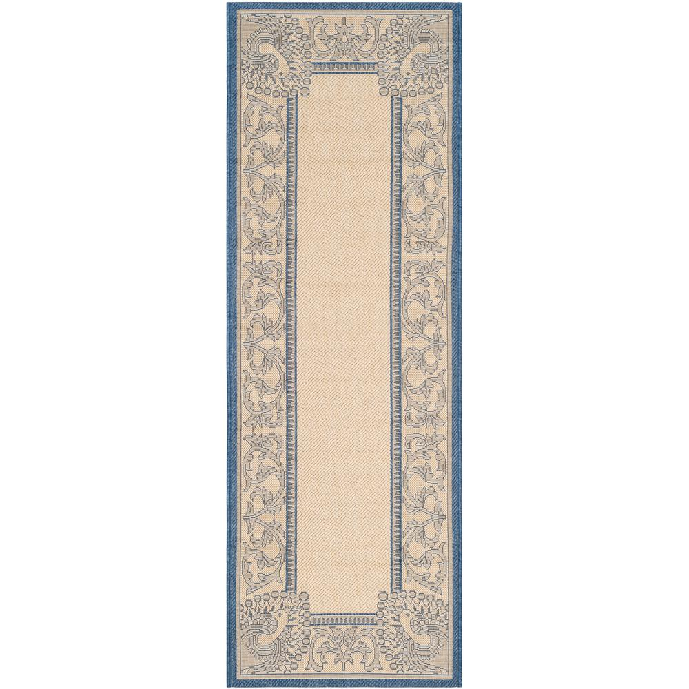 Courtyard Natural/Blue 2 ft. 3 in. x 6 ft. 7 in.