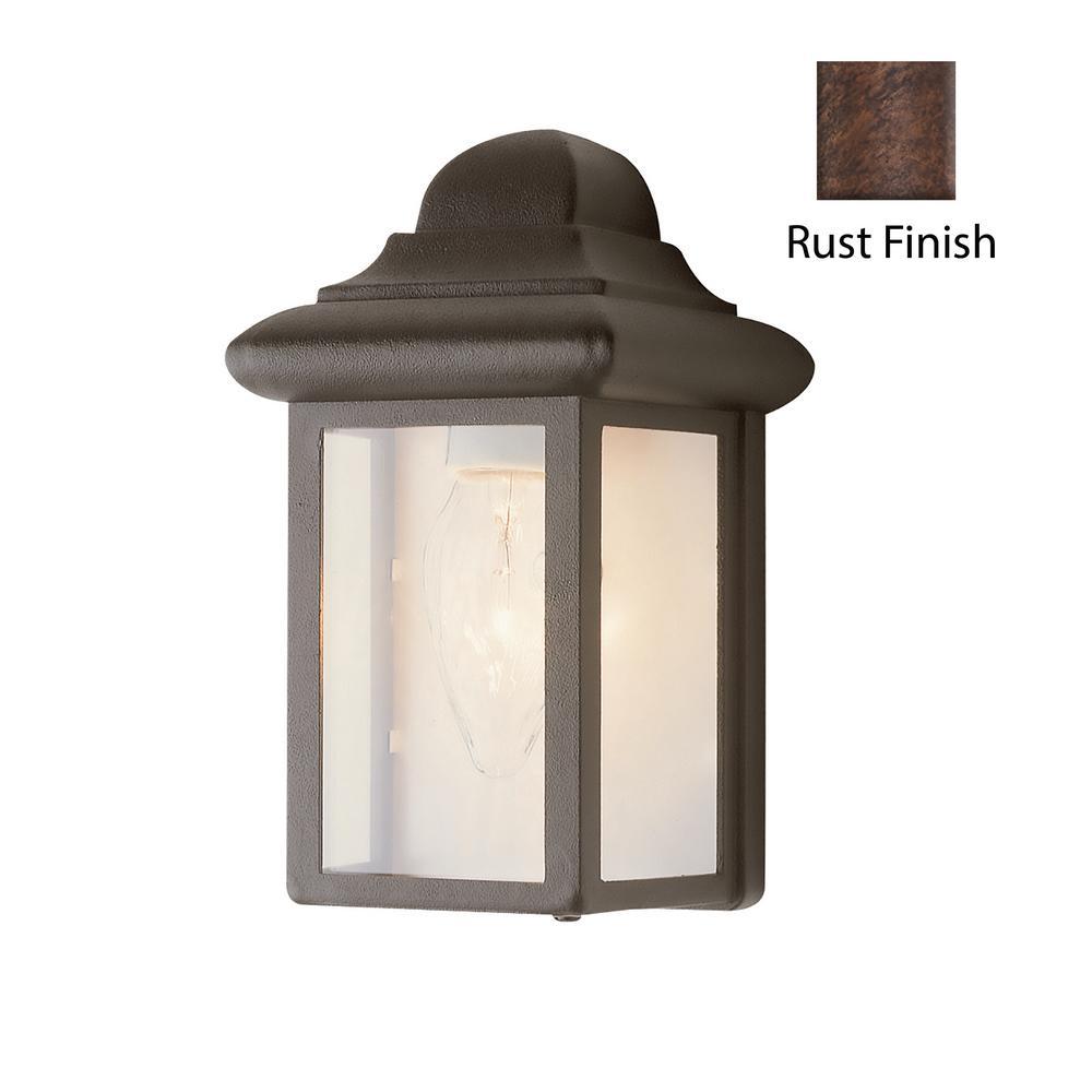 Vista 1-Light Rust Outdoor Wall Mount Lantern