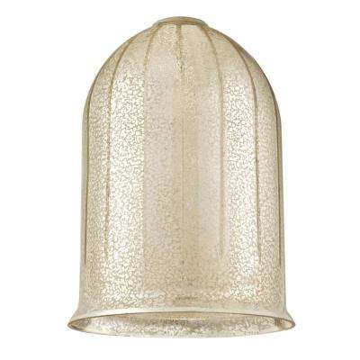 10-1/8 in. Antique Mirror Bell Shade with 2-1/4 in. Fitter and 7-1/4 in. Width