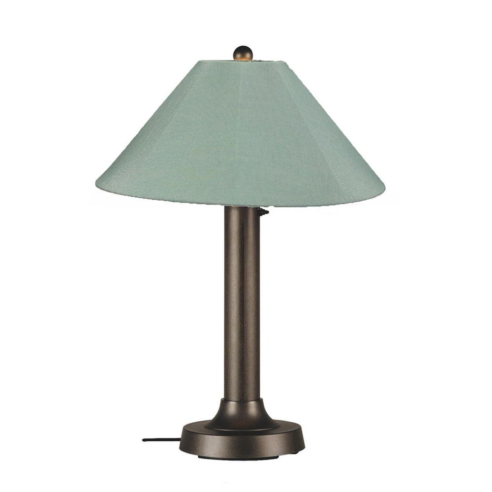 Patio Living Concepts Catalina 34 in. Bronze OutdoorTable Lamp with Spa Shade
