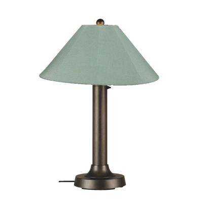 Catalina 34 in. Bronze OutdoorTable Lamp with Spa Shade