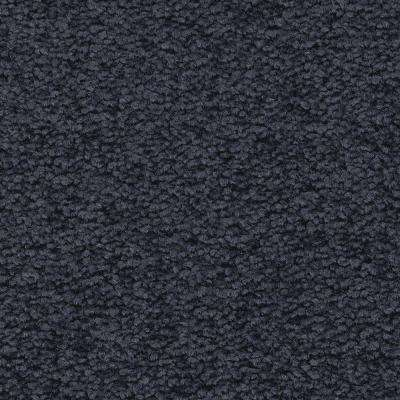Unblemished II-Color Restless Sea Textured 12 ft. Carpet