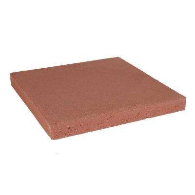 11.75 in. x 11.75 in. x 1.5 in. Red Concrete Step Stone (168 Pieces / 168 Sq. ft. / Pallet)