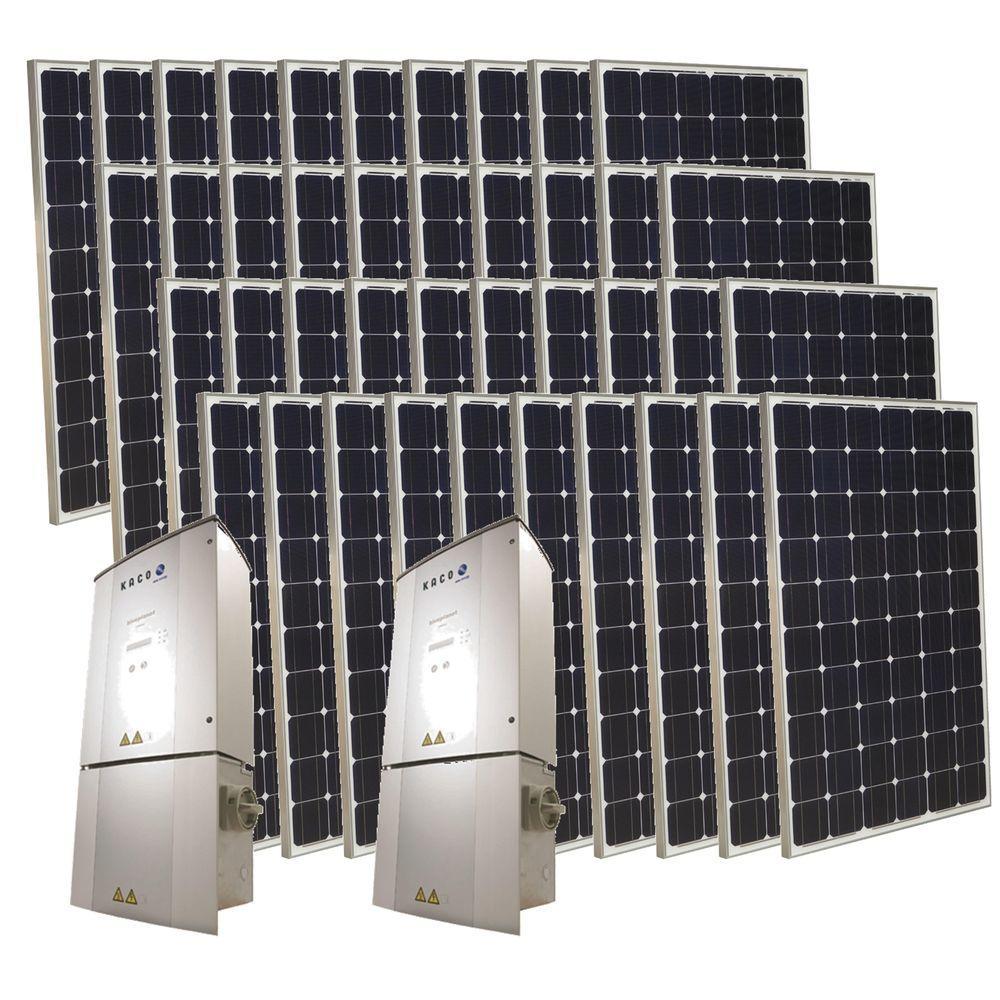 Grape Solar 10,000-Watt Monocrystalline PV Grid-Tied Solar Power Kit-DISCONTINUED
