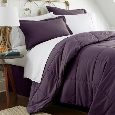 Performance 8-Piece Purple Queen Bed in a Bag Set