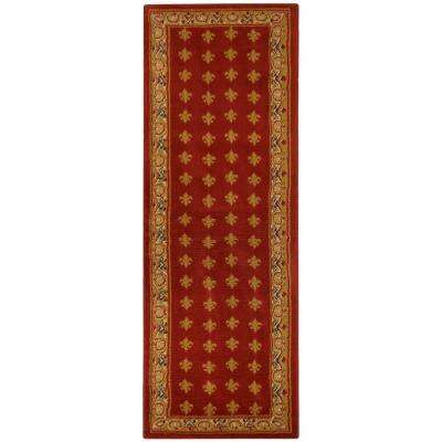 Ephes Collection Red 1 ft. 10 in. x 6 ft. 10 in. Runner