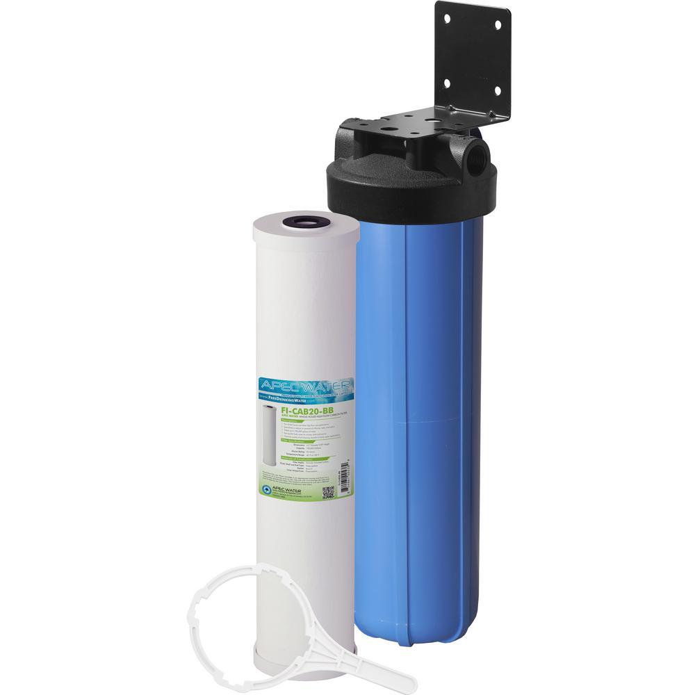 Whole House 1-Stage Water Filtration System High Capacity Carbon For All