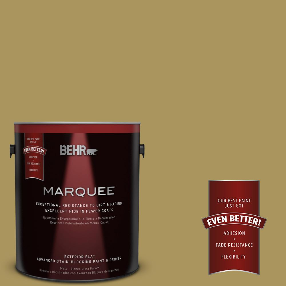 BEHR MARQUEE 1-gal. #370F-6 Mossy Rock Flat Exterior Paint