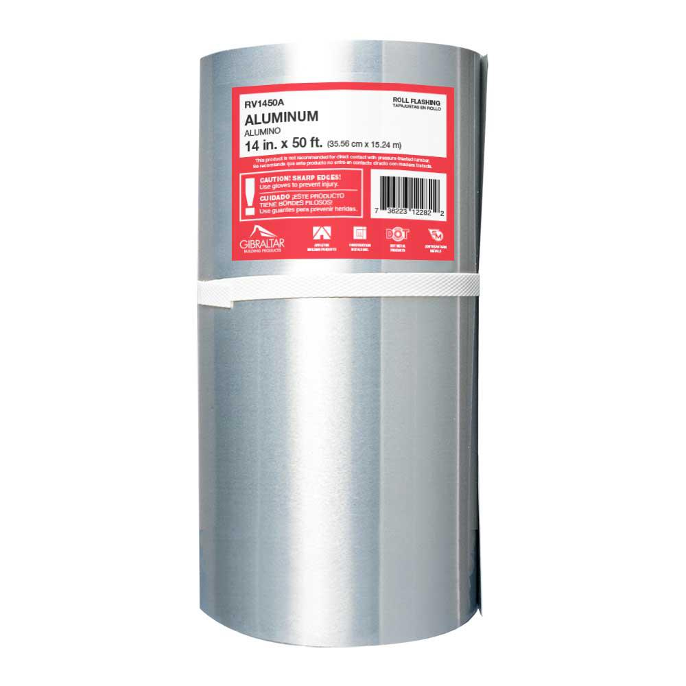 Gibraltar Building Products 14 In X 50 Ft Aluminum Roll Valley Flashing Rv1450a The Home Depot