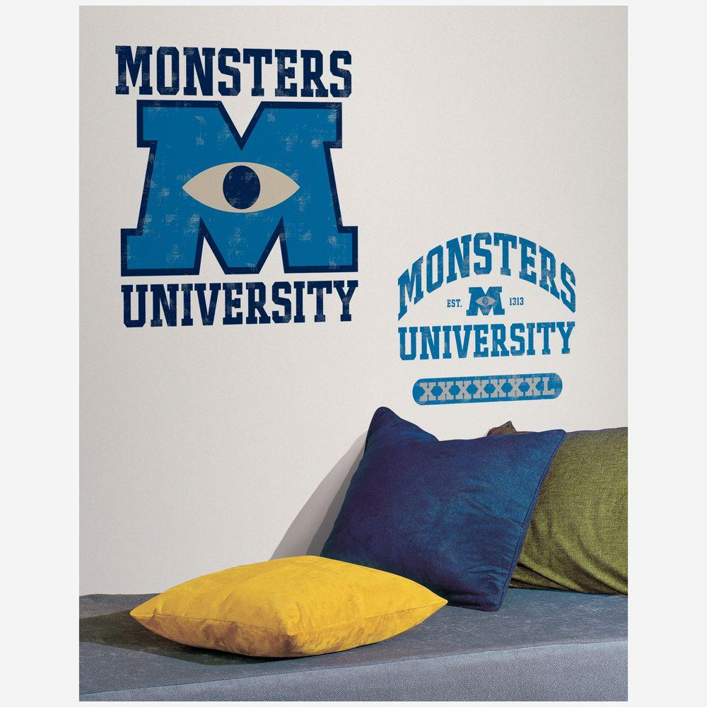 null 5 in. x 19 in. Monsters University Giant Peel and Stick 6-Piece Wall Decals