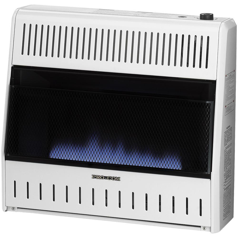 ProCom 27 in. Vent-Free Dual Fuel Blue Flame Gas Wall Heater