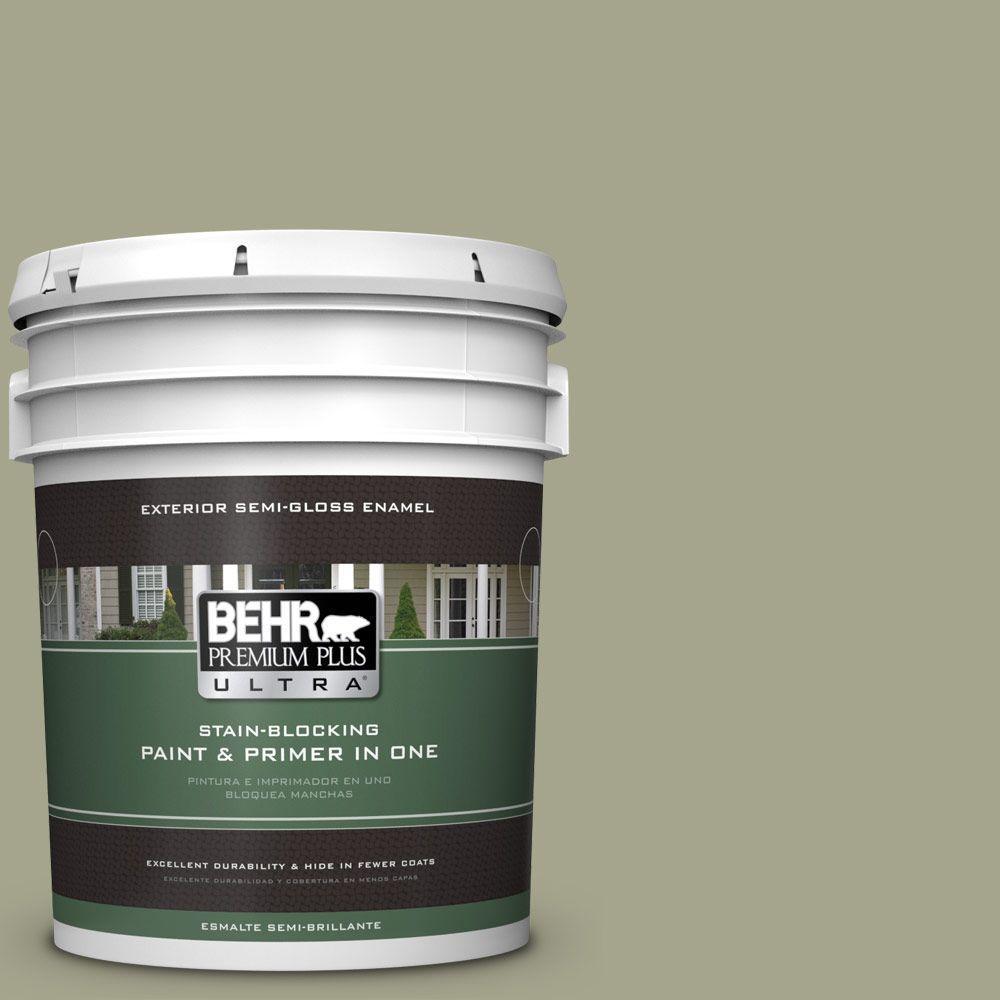 BEHR Premium Plus Ultra 5-gal. #400F-5 Promenade Semi-Gloss Enamel Exterior Paint