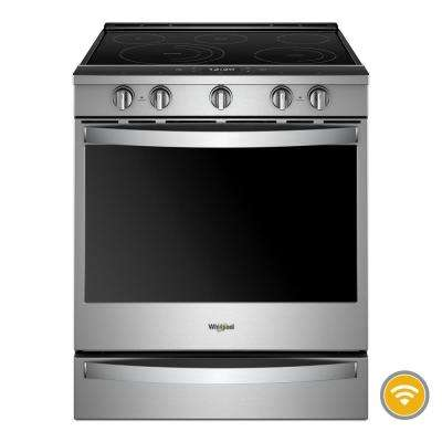 6.4 cu. ft. Smart Slide-In Electric Range with FROZEN BAKE Technology in Fingerprint Resistant Stainless Steel