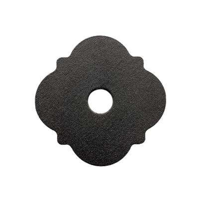 Outdoor Accents Z-MAX Galvanized Steel Black Powder-Coat Decorative Washer