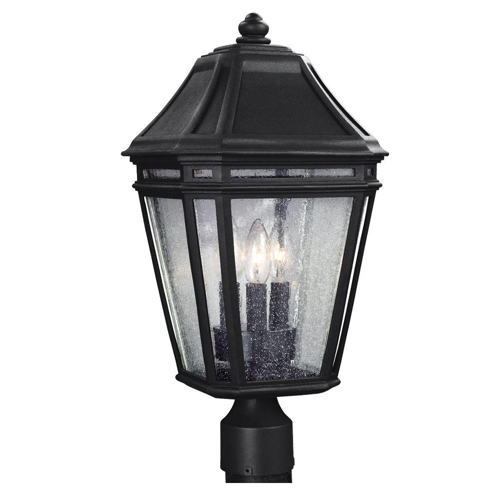 Londontowne 3-Light Black Outdoor Post Top Light