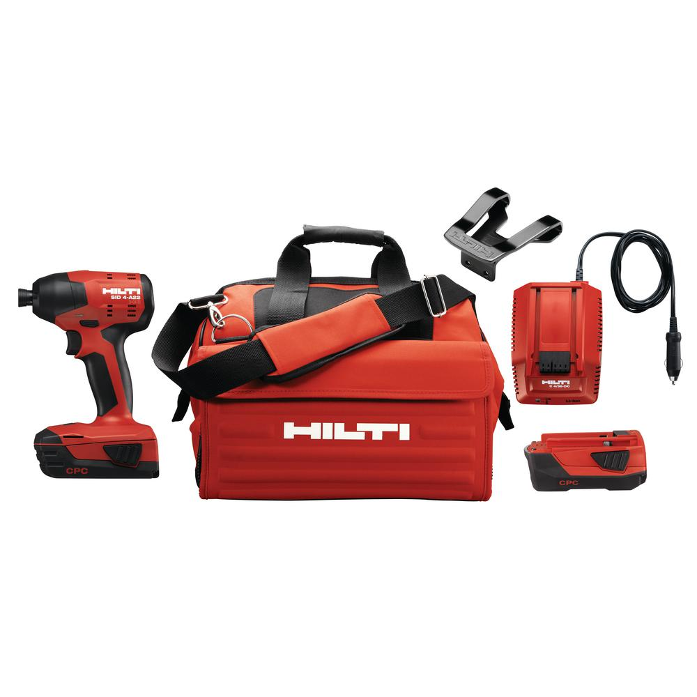22-Volt SID 4 Advanced Compact Battery Cordless Impact Driver Package with