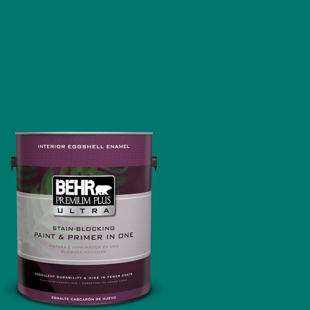 BEHR Premium Plus Ultra 1-gal. #490B-7 Mermaid Harbor Eggshell Enamel Interior Paint