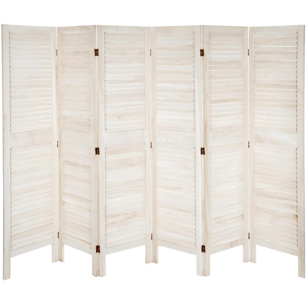 5 ½ ft. White Classic Venetian 6-Panel Room Divider