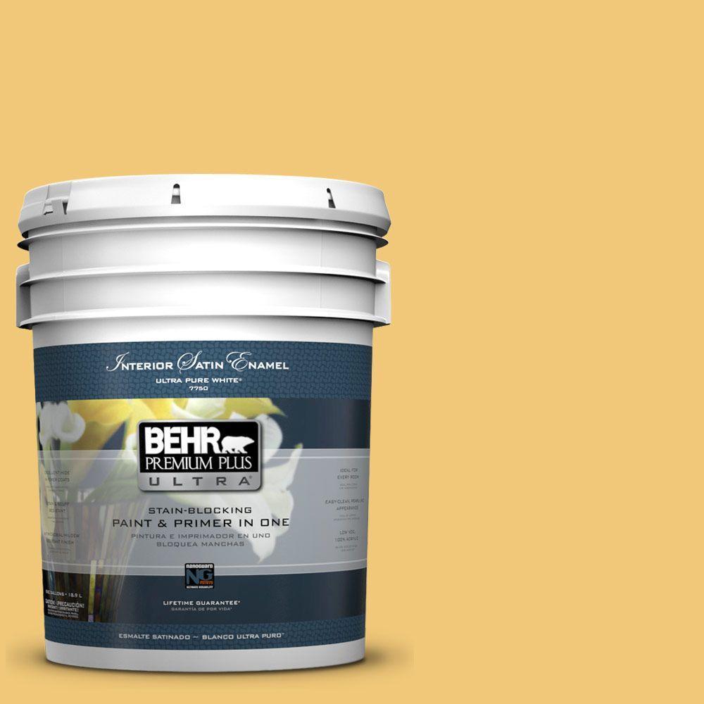 BEHR Premium Plus Ultra 5-gal. #T14-19 Sunday Afternoon Satin Enamel Interior Paint