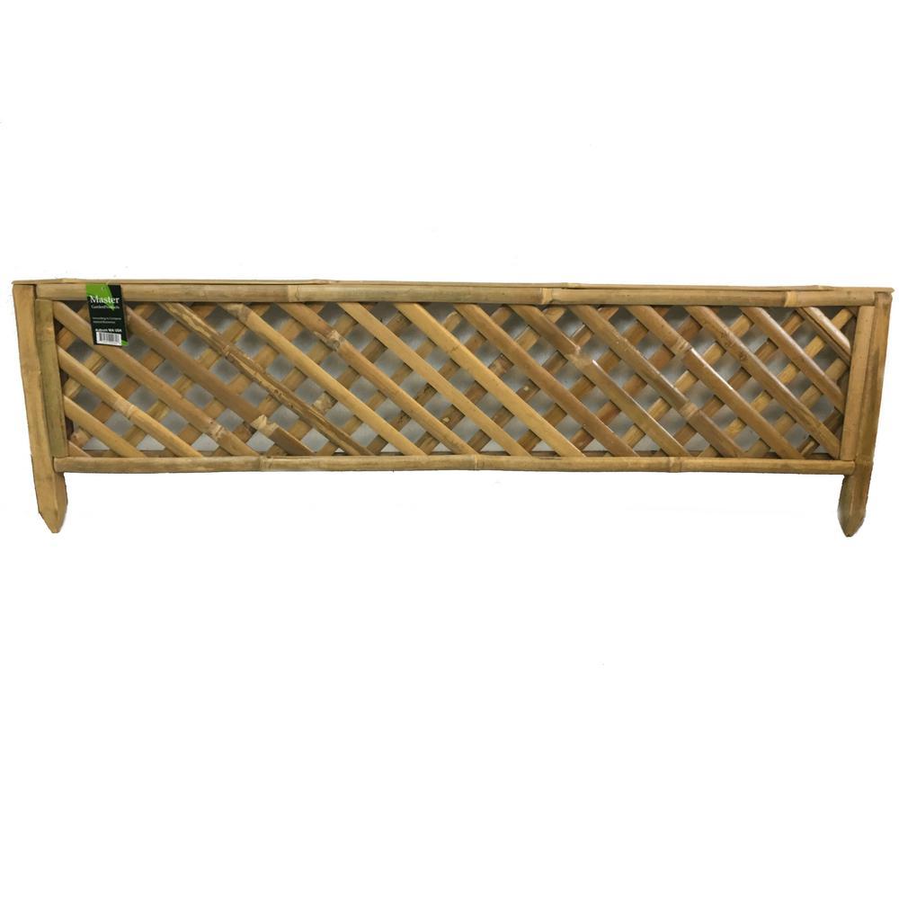 48 in. x 14 in. Trellis Brown Bamboo Edging