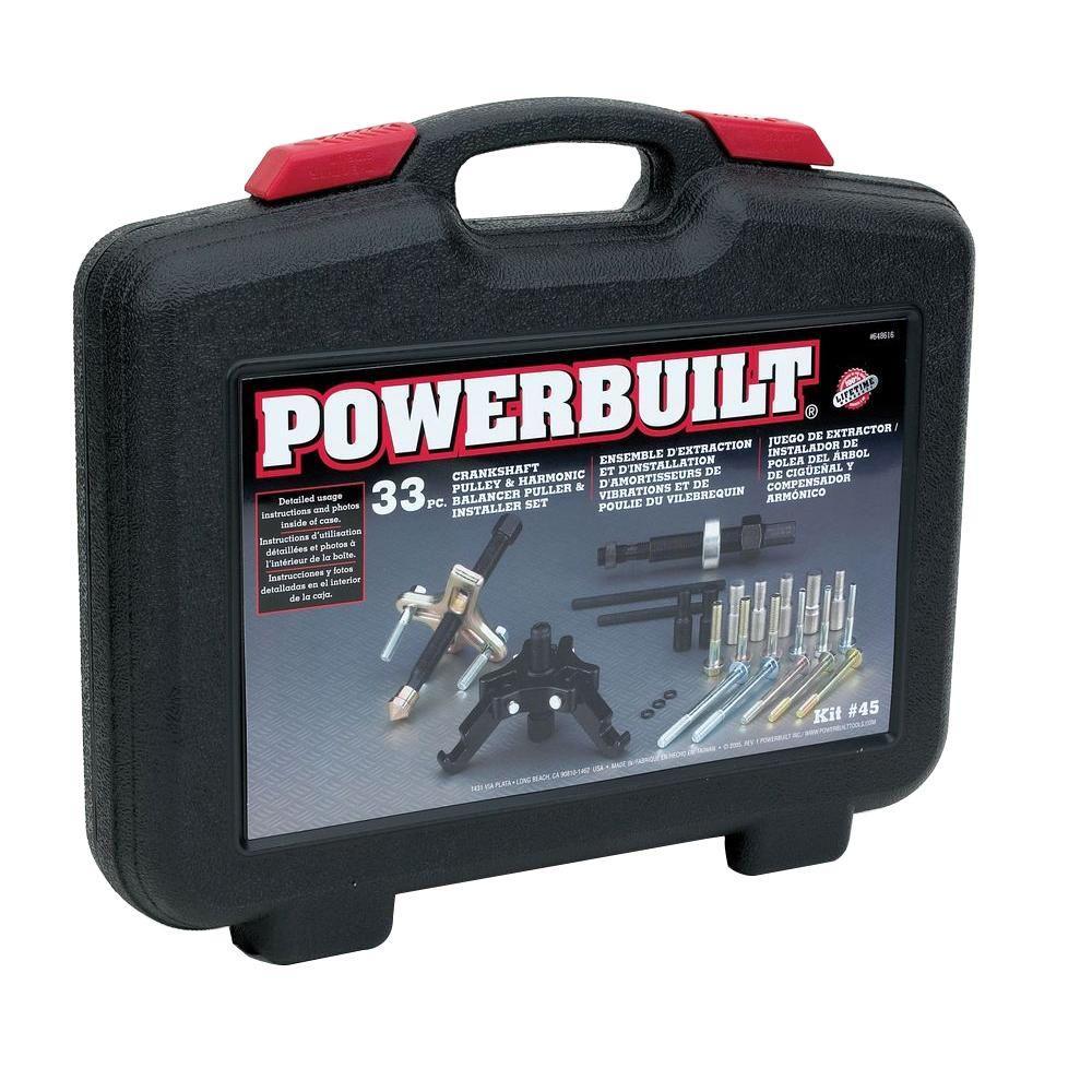Powerbuilt Harmonic Balancer And Pulley Removerinstaller Kit 648616