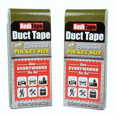 RediTape Pocket Size Duct Tape in Olive (2-Pack)