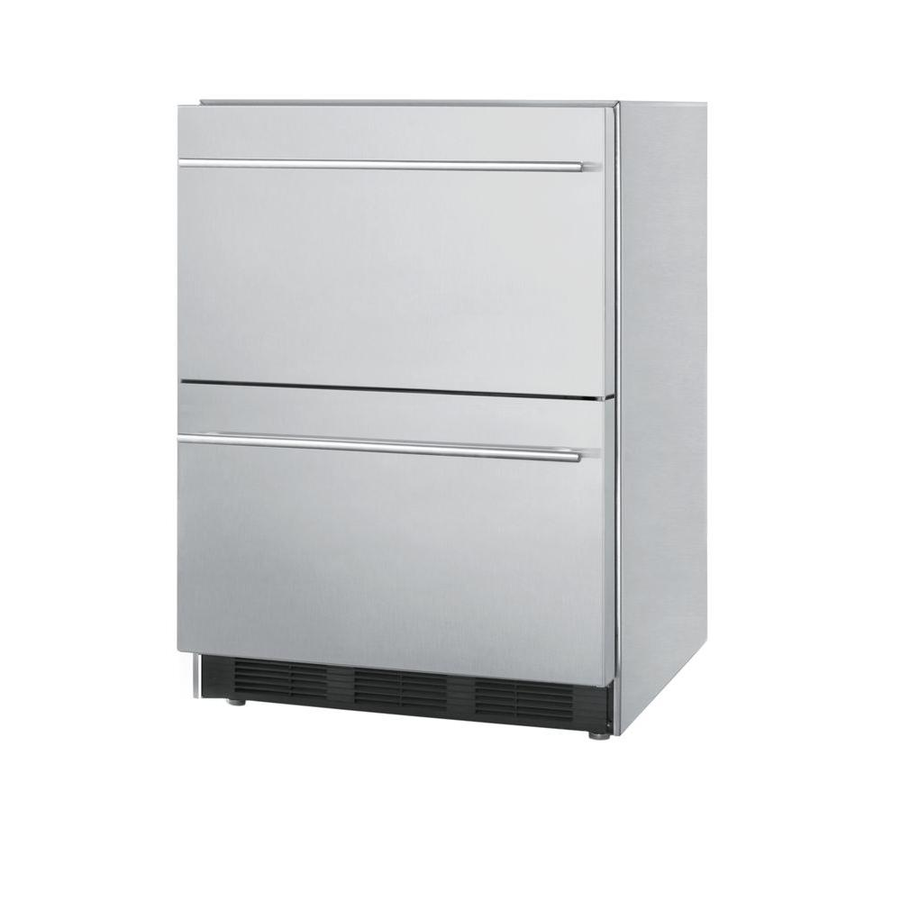Summit Appliance 5.5 cu. ft. All-Refrigerator in Stainless Steel