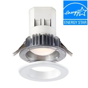 EnviroLite 4 inch Bright White LED Easy Up Recessed Light with 93 CRI J-Box (No Can Needed) by EnviroLite