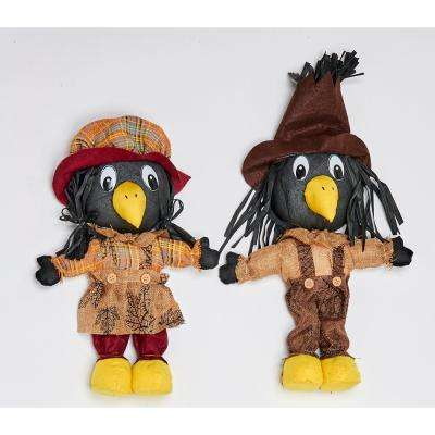 16 in. Standing Crow (Set of 2)