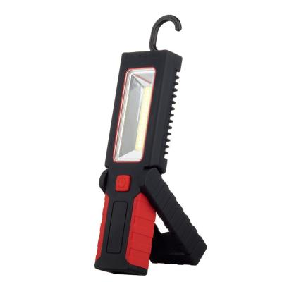 3 Battery LED Integrated Red 2-in-1 Work Light and Flashlight