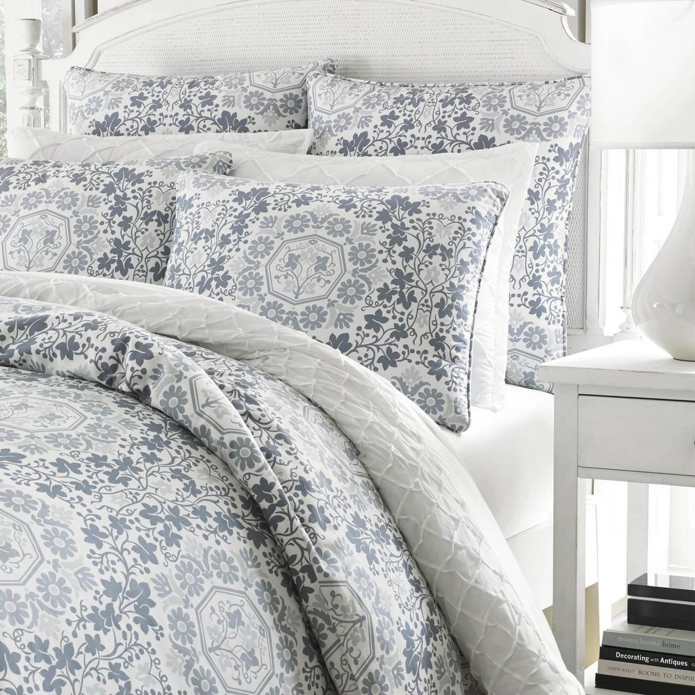Caldecott Pastel Blue Floral Duvet Cover Set
